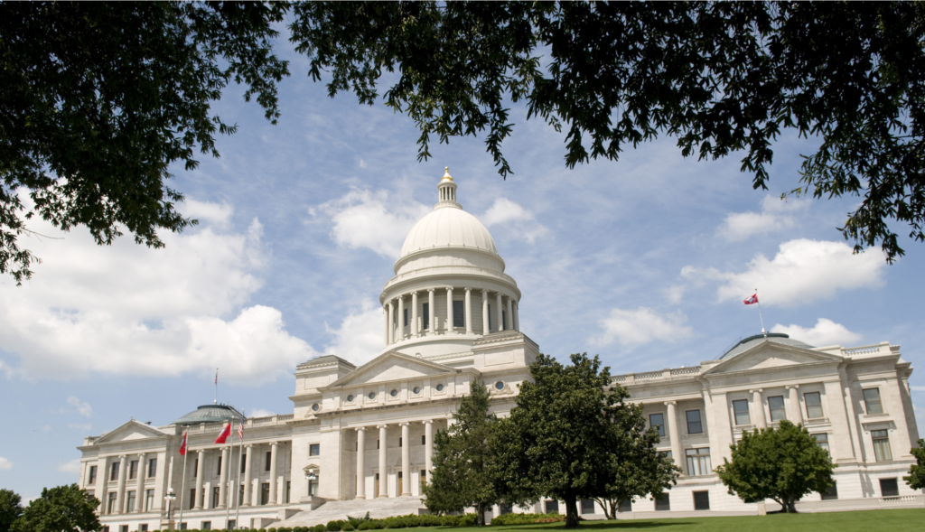 An image of the Arkansas State Capitol.